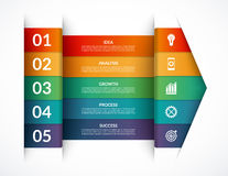 Infographic options banner. Vector template. That can be used as a chart, graph, diagram, workflow layout stock illustration