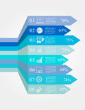 Infographic options banners Royalty Free Stock Photography