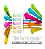 Infographic options with color arrow Stock Images