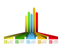 Infographic options with color arrow Stock Image