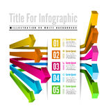 Infographic options with color arrow Royalty Free Stock Photo