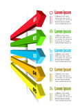 Infographic options with color arrow Royalty Free Stock Photography