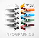 Infographic options with color ribbons Royalty Free Stock Photo