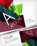 Infographic options geometrical background design Stock Photos