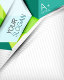 Infographic options geometrical background design Royalty Free Stock Images