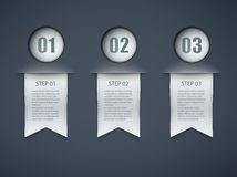 Infographic options layout Royalty Free Stock Photography