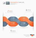 Infographic options template Stock Photography