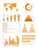 infographic orange för element vektor illustrationer
