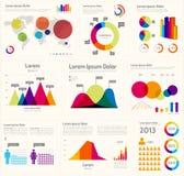 Infographic orientering Arkivfoto