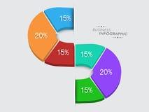 Infographic orientering för affär Arkivbild