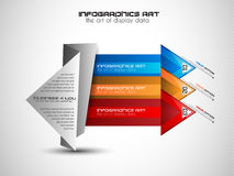 Infographic orientering för idékläckningbegreppsbakgrund med grafer Royaltyfri Fotografi