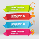 Infographic-Origami-Aufklebervektor Lizenzfreies Stockfoto
