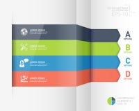 Infographic origami stylu opcj biznesowy sztandar Zdjęcia Stock