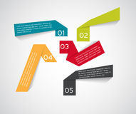 Infographic Origami Templates for Business Vector Royalty Free Stock Photo