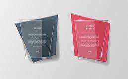 Infographic Origamifahnen des Vektors eingestellt Stockfoto