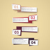 Infographic Origamifahnen des Vektors eingestellt Lizenzfreie Stockbilder