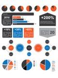 infographic packe v för 02 element royaltyfri illustrationer