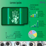 Infographic palmscanner Vector Stock Foto