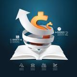 Infographic-Papierdiagramm-Buchdiagramm kreativ. Stockfoto