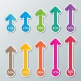 Infographic Papierdiagramme Stockfoto