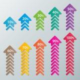 Infographic Papierdiagramme Stockfotografie