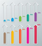 Infographic Papierdiagramme Lizenzfreies Stockfoto