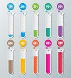 Infographic Papierdiagramme Stockfotos