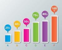 Infographic Papierhintergrund Stockfotos