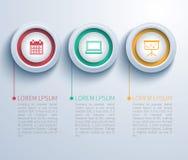 Infographic pappers- cirkel stock illustrationer