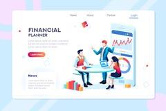 Infographic para el consejero de negocio Team ilustración del vector