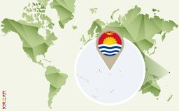 Infographic para Kiribati, mapa detalhado de Kiribati com bandeira ilustração stock