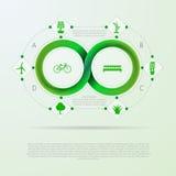 Infographic para la ecología con la raya de Mobius Fotos de archivo