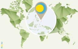 Infographic para Palau, mapa detalhado de Palau com bandeira ilustração do vetor