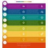 Infographic, paski liczący, osiem szablon ilustracja wektor