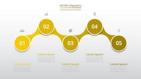 Infographic passo a passo Fotografia de Stock Royalty Free