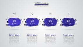 Infographic passo a passo Imagens de Stock