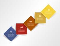 Infographic passo a passo Fotos de Stock