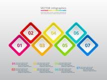 Infographic passo a passo Imagem de Stock