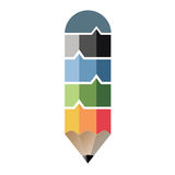 Infographic in pencil shape concept stock illustration