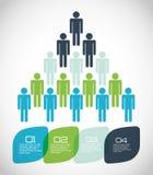 Infographic people design Stock Photos