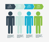 Infographic people design Royalty Free Stock Image