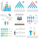 Infographic people icons collection Royalty Free Stock Photo