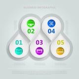 Infographic per l'e-business Fotografie Stock