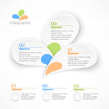 Infographic petal elements Royalty Free Stock Image