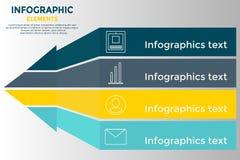 Infographic Pfeil Stockfoto