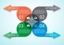 Infographic-Pfeil-Geschäftsschablone Lizenzfreie Stockfotos