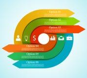 Infographic-Pfeil-Kreisschablone Lizenzfreies Stockfoto