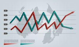 Infographic Pfeildiagramm des Geschäfts Lizenzfreies Stockbild