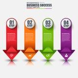 Infographic-Pfeilvektor-Designschablone Lizenzfreie Stockfotografie