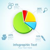 Infographic Pie Chart Royalty Free Stock Photography